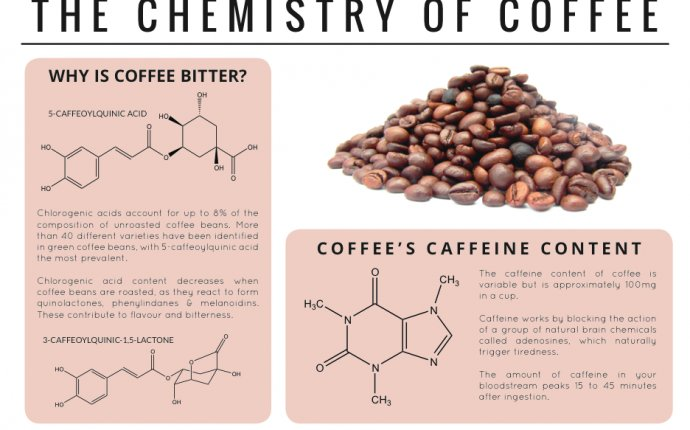 Coffee bean chemical composition